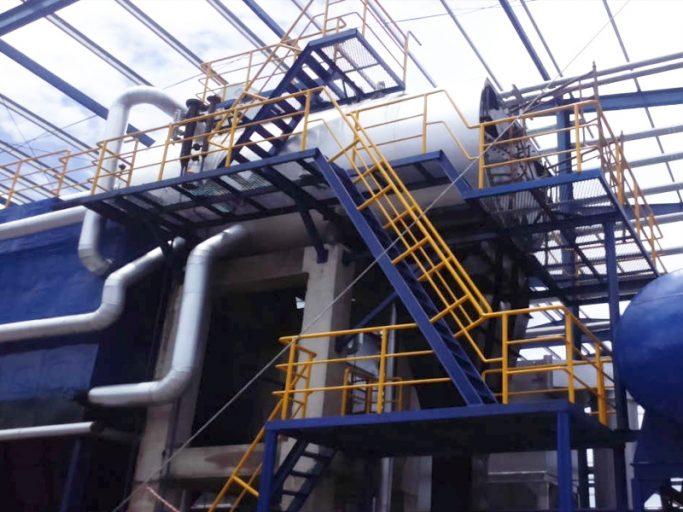 Static chain grate boiler
