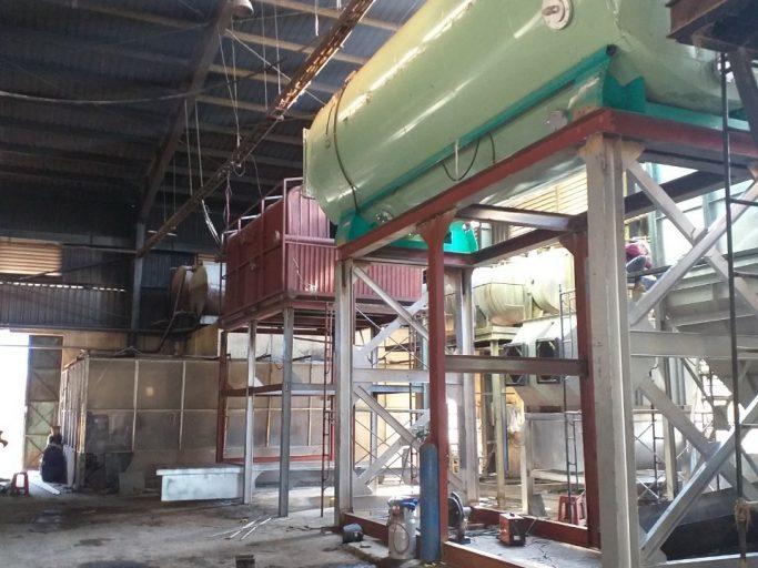 Gia công chế tạo, lắp đặt lò hơi tầng sôi đốt than 10 tấn